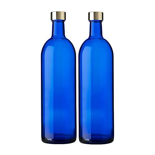 ガラス瓶 ワインボトル 720ml ブルー 2本セット 日本製 ブルーボトル GLASS BOTTLE SK720PGCB2