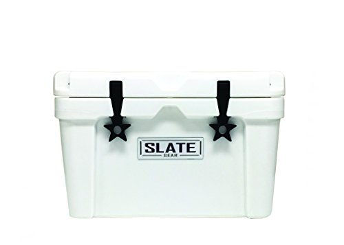 yeti ice coolers Slate Gear Roto Molded YETI, RTIC Style Cooler. Heavy Duty, Fishing and Camping Ice Chest. (30 Quart, White)