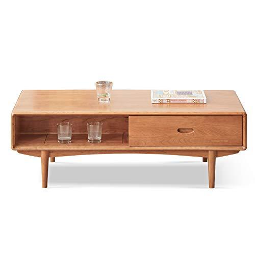Z-GJM massief houten salontafel eenvoudige kersenhouten salontafel Chinese antieke meubels klein appartement woonkamer salontafel het massief houten materiaal is allemaal massief hout, bestand tegen druk A
