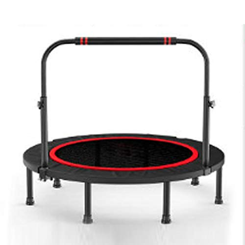 LWXXXA Fitness Trampoline, Foldable Trampoline For Adult, Indoor Trampoline With Handle, 40 Inch, For Adults Kids Indoor Exercise