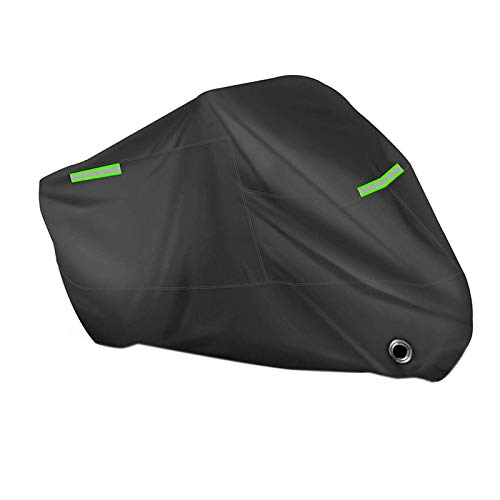 yqs Cubierta de la motocicleta cubierta universal motocicleta scooter bicicleta impermeable UV polvo protector lluvia