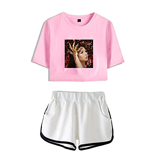CCEE Eva Queen Cooles Mädchen Lässig Zweiteiliges Set Bedruckte Frauenshorts + T-Shirt Kurze Mode Coole Hüfte Sommer Weibliche Pullover-Sets