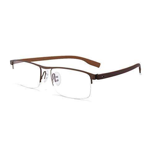 Ver en nabij Dual-Use Hd Optische Oogkleding, Intelligente Progressieve Multi-Focus Leesbril, Business Half Frame,Zwart/Bruin