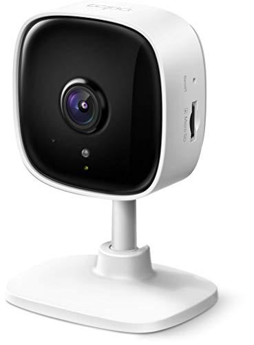 TP-Link Tapo C100, cámara Wi-Fi de seguridad para el hogar, 1080p, audio bidireccional, detección de movimiento, funciona con Alexa