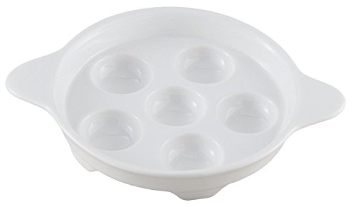 HIC Porcelain Footed Escargot Plate 6.5-inch (pack of 4)