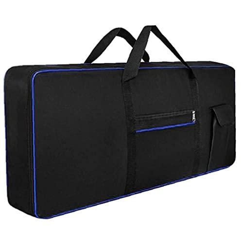 Sanfiyya Funda de Transporte Acolchada para teclados electrónicos con 61 Teclas, Hechos de Material de Oxford 61 Llave de la Bolsa de Accesorios Piano Azul Deportes Profesionales