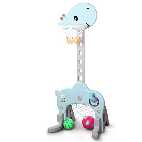 Basketballkorb Set, 3 in 1 Sport Activity Center Grow-to-Pro Adjustable Einfachen Spielbasketballkorb, Fußball/Fußball-Ziel, Ring-Wurf Cute Giraffe for Baby-Kind-Kleinkind