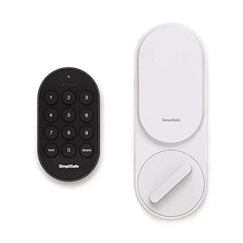 SimpliSafe Smartlock (White) - Compatible with SimpliSafe Home Security System (New Gen)