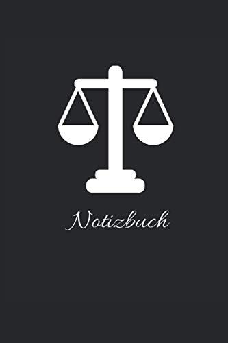 Waage Notizbuch: Tolles Notizbuch mit 120 linierten Seiten im DIN A5 Format
