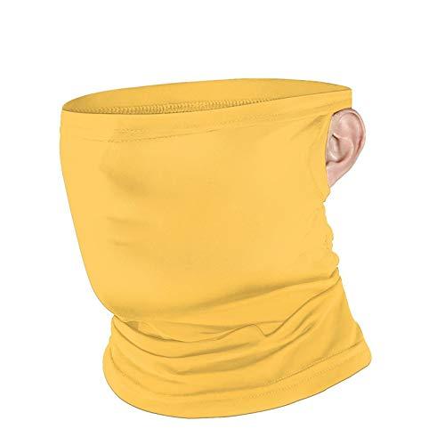 Sunshine - Pañuelo para el cuello, unisex, transpirable, color amarillo, liso, para protección al aire libre