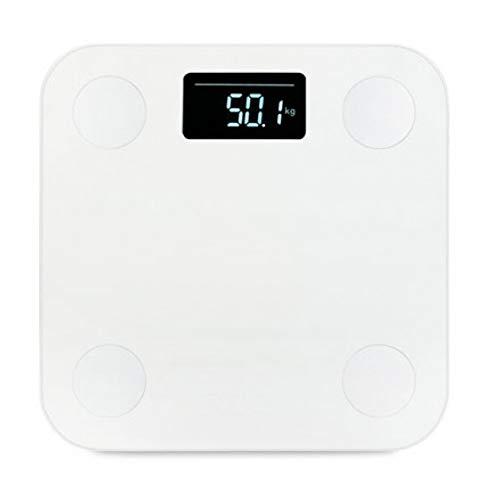 LWLOMY Scala del Corpo Bagno Caldo Bilance Intelligenti Yunmai Premium Mini bilance per Il Grasso corporeo digitali Bilancia Elettronica per Il Peso Umano Bilance Mi LCD Bluetooth, Bianco