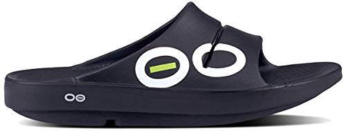 OOFOS - Unisex OOahh Sport - Post Run Recovery Slide Sandal - Black Sport - M12/W14