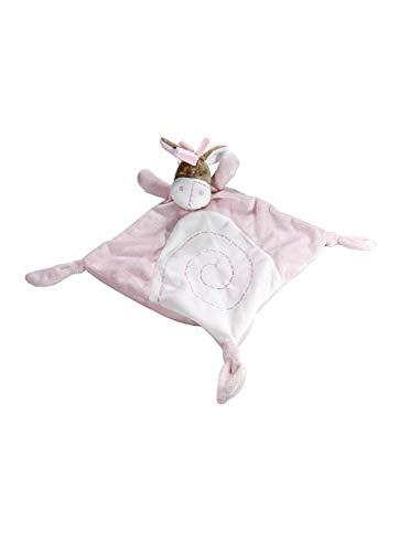 Couverture peluche doudou petit âne rose pour un nouveau né