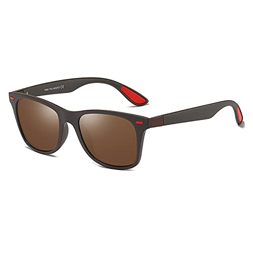 MOMAMOM Gafas De Sol Polarizadas Hombre Mujer Protección UV Antirreflejos Aire Libre Retro Conducir Excursión CláSico Unisex Lentes Viaje Moda Ovalada Estilo Vintage brown