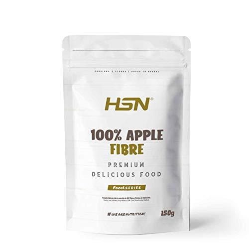 Fibra de Manzana de HSN   100% Apple Fibre, 100% Natural   Fuente de Fibra + Salud Digestiva   Vegano, Sin Gluten, Sin Lactosa, Sabor Natural, En Polvo, 150 gr