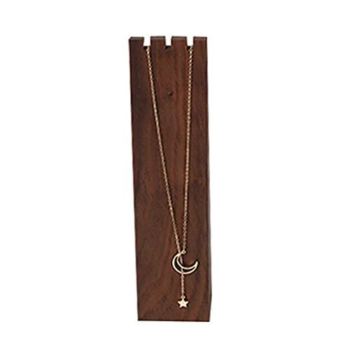 Soporte de exhibición para collar de madera, organizador de joyas