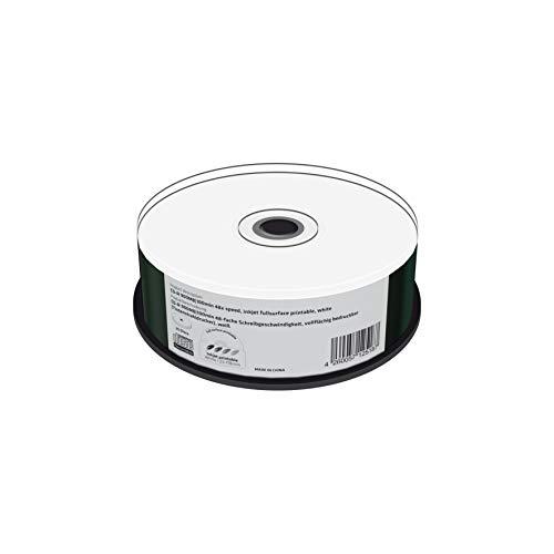 MediaRange CD-R 900Mb|100Min 48x Speed, Inkjet Fullsurface Printable, Cake 25