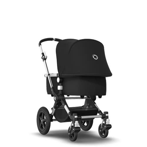 Bugaboo Cameleon 3 Plus: Vielseitiger 2-in-1 Kinderwagen mit drehbarem Lenker für eine komfortable Fahrt, Liegewanne, 0-4 Jahre, Aluminium-Fahrgestell & schwarzes Sonnendach