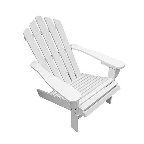 Z-Color Sillón reclinable, Estilo Moderno, Sencillo y Elegante, Duradero, al Aire Libre o de Madera reclinada de Madera, Blanco