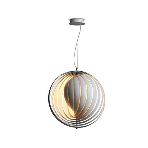 DDJJZHXYP pastoral hierro forjado lámpara colgante país simple restaurante luz de techo luna led lámpara