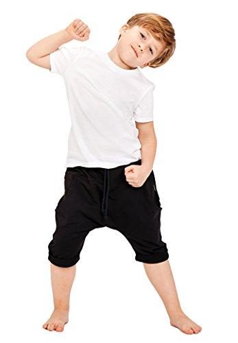 Be baby! Shorts, joggingbroek kort, model: Easy, maat 110-152, van katoen, pompbroek kort, capribroek