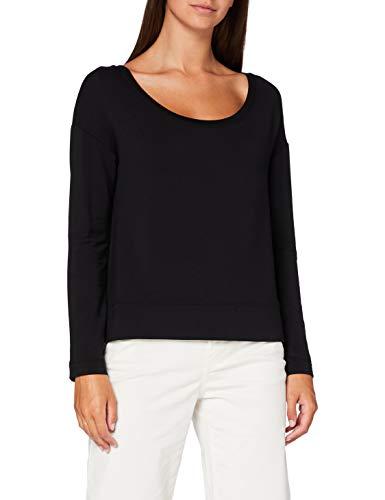 Marc O'Polo Damen 006304052229 Sweatshirt, Schwarz (Black 990), Medium (Herstellergröße: M)
