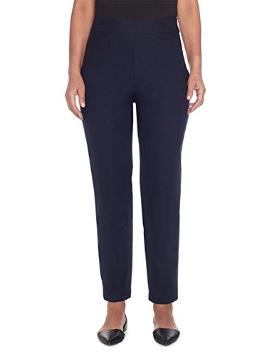 Alfred Dunner Women's Allure Slimming Plus Size Short Stretch Pants-Modern Fit, Navy, 20W