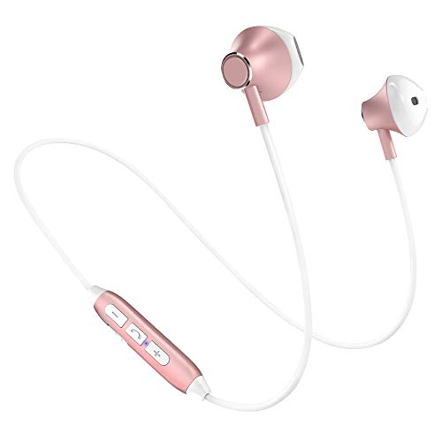 Headphones Bluetooth,Wireless Noise Cancelling Headphones,Lightweight HiFi Stereo Magnetic Earbuds Gym Headphones,HD Buit-In Mic,Tangle Free,Support 2 Devices,Sweatproof for Jogging,Running,Dancing …