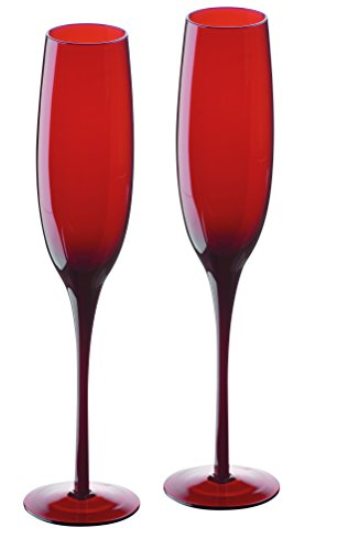 Artland Midnight Juego de 2 Copas de champán Rojas