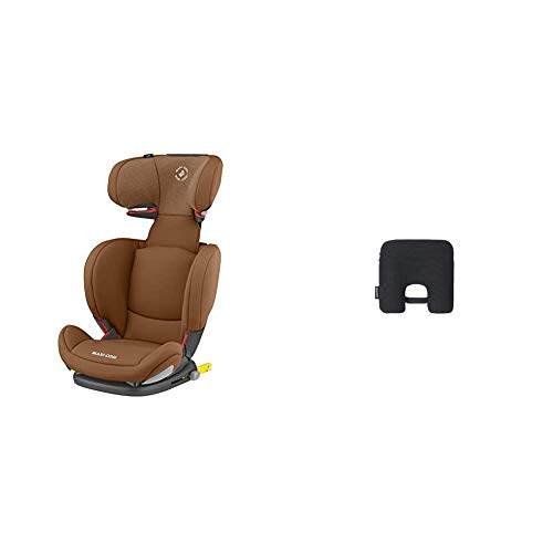 Maxi Cosi RodiFix AirProtect (AP) Kindersitz Gruppe 2/3, ISOFIX-Sitzerhöhung, optimaler Seitenaufprallschutz, 3,5-12 Jahre, 15-36 kg, (braun) Authentic Cognac + Maxi-Cosi e-Safety