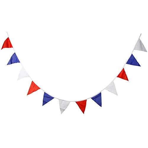 Greyghost Tricolor Katoen Driehoek Vlag Decoratie Vlag Bruiloft Achtergrond Regeling Receptie Décor voor Kinderen Verjaardag