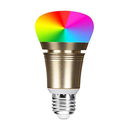Bombilla De Luz Inteligente LED Wifi Ajustable Y Lámpara Multicolor Funciona Con Amazon Alexa Y Google Home, E27 85W RGB Equivalente 11W Bombilla De Cambio De Color, 5 Pack