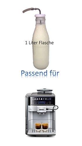 Passend für Viesta One Touch 500 Kaffeevollautomat - leistungsstarker Kaffeeautomat 1 Liter MIlchflasche mit Edelstahlrohr