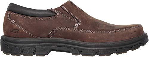 Skechers USA Men's Segment-The Search Slip-On Loafer,Dark Brown,8 M US