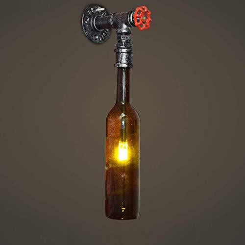 LED Lampe De Chevet Applique Murale Intérieur Rétro Vintage Chambre Enfants Bouteille En Verre Appliques Murales Enfants Chambre Cuisine Éclairage Mural Décoration Lampe Couloir G4 Lampe 12 * 32cm
