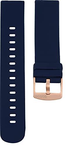 Oozoo - Correa de repuesto para reloj (20 mm, silicona, cierre de oro rosa),