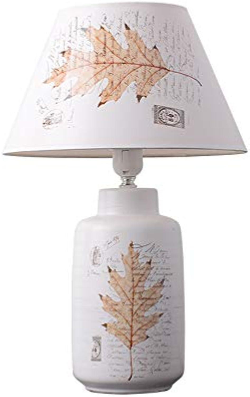LIU UK Table Lamp Keramische Tischlampe Schlafzimmer Nachttischlampe, Nordic Kreative Einfache Moderne Mode Warme Tischlampe, 220 V E14 Lampe Mund (gre   5712)