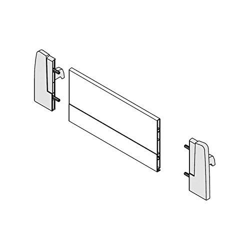 Attaches façade montage à l'anglaise - Décor : Blanc - Pour profil de hauteur : 115 mm - Découpe fond arrière hauteur : 116 - HARN