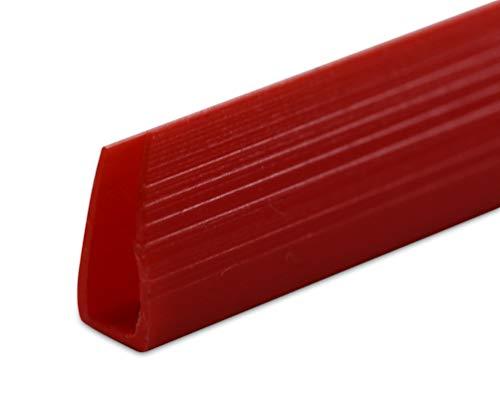 Klemrails voor het binden van documenten, zonder gaten, 6 mm, 100 stuks, voor maximaal 25 vellen - diverse kleuren rood