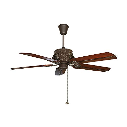Fanzart Monarch - Classical Cast Iron Housing 5 Blade Ceiling Fan with Floral Textured Handpainted...