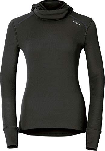 Odlo Damen Shirt Long Sleeve with Facemask Warm, schwarz(black), M