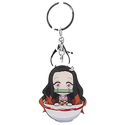 Lunanana Dämon Slayer Schlüsselanhänger, japanisches Anime Metall Acryl Schlüsselanhänger Sammlerstück Schlüsselring Tasche Zubehör Anime Anhänger Anime Fans Geschenk, 0, H20