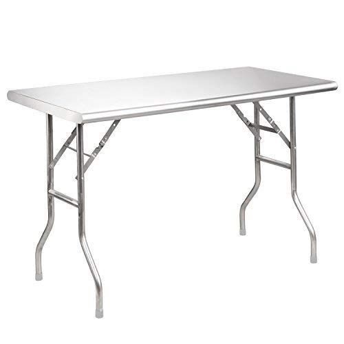 Royal Gourmet Stainless Steel Folding Work Table, 48