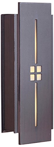 Craftmade TB1030-AI Tiered Mission Lighted Doorbell LED Touch Button, Aged Iron (5