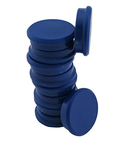 RIKAMA 50 Magnete | Blau | Rund | Haftmagnete | Magnettafel | Whiteboard | Kühlschrank