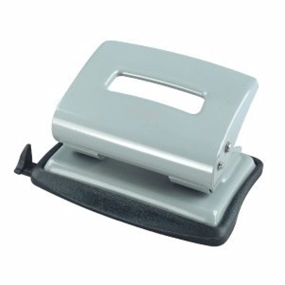Herlitz 2.0mm Metal Office Punch with Adjustable Paper Guide - Light Green