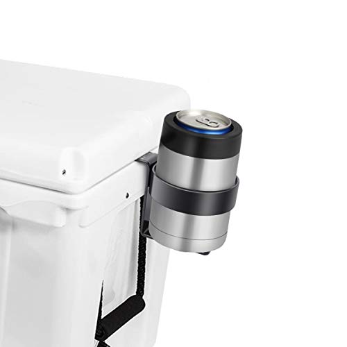 AIEVE Cooler Beverage Holder, Heavy Duty Powder Coated Cooler Cup Holder Cup Drink Holder Cooler Beverage Holder Cup Holders Stand for YETI Coolers and RTIC Cooler Accessories with Tie-Down Slots
