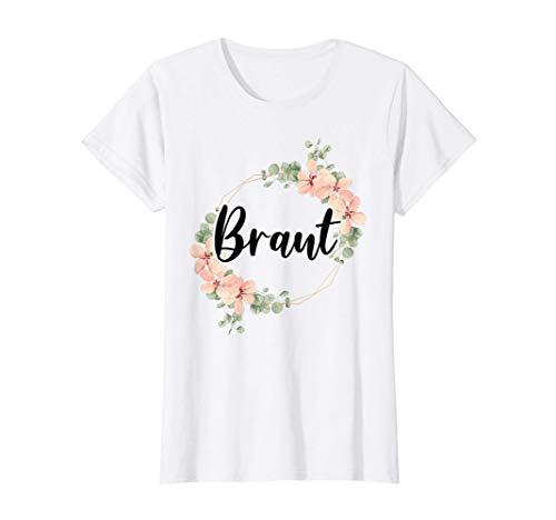 Damen Braut Bride to be Brautjungfern JGA Party Hochzeit Geschenk T-Shirt