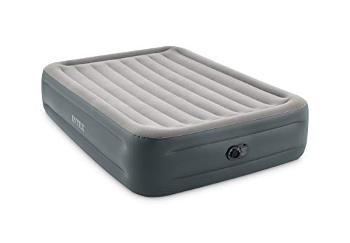 """Intex Dura-Beam Plus Series Essential Rest Airbed with Internal Electric Pump, Bed Height 18"""", Queen (2021 Model)"""