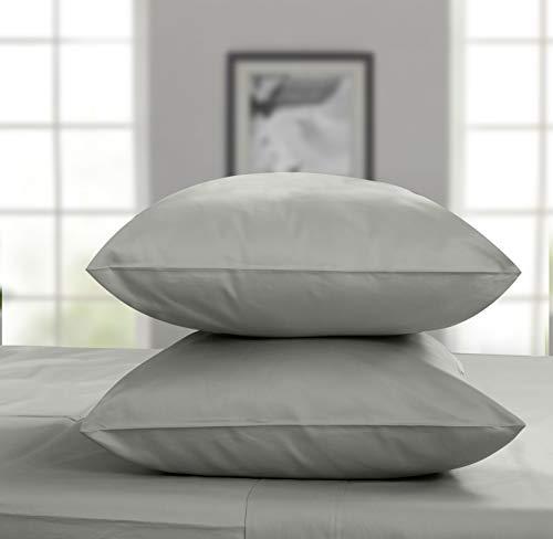 Threadmill Home Linen Bedding Juego de sábanas de satén de 800 hilos, 100% algodón ELS, juego de cama de lujo, juego de 4 piezas, sábanas de cama, tela de satén suave, King, color blanco